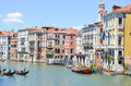 Canale grande venice italy with gondols and colorful buildings in Stock Photography