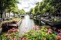 Canali di amsterdam in olanda Immagine Stock Libera da Diritti
