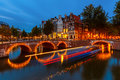 Canals in Amsterdam Stock Image