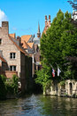 Canals in old Brugge, Belgium Royalty Free Stock Images