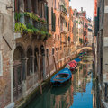 Canals of venice italy europe Stock Photos