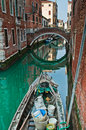 Canals in venice one of historic district Royalty Free Stock Photography