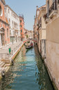 Canals of venice typical canal views in italy shot in summer Stock Photography