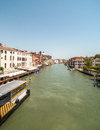 Canals of venice typical canal views in italy shot in summer Royalty Free Stock Photo