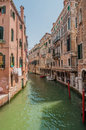 Canals of venice typical canal views in italy this shows s great architecture shot in summer Royalty Free Stock Images