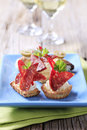 Canapes do Tartlet Foto de Stock