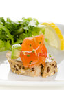 Canapes With Smoked Salmon, Cr...