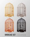 Canary Birdcage 3D Set Royalty Free Stock Photo