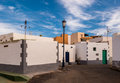Canary islands village traditional white buildings in the of ajuy fuerteventura Royalty Free Stock Photo