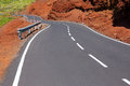 Canary Islands winding road curves in mountain Royalty Free Stock Images