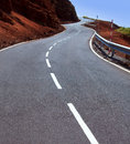 Canary Islands winding road curves in mountain Royalty Free Stock Photo