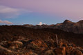Canary twilight gloaming in the caldera of teide national park Stock Photo