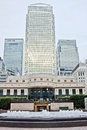 Canary Wharf London City, England Royalty Free Stock Photography