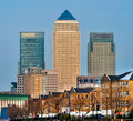 Canary wharf london uk skyscrapers Royalty Free Stock Images