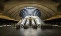 The Canary Wharf tube station , London