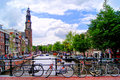 Canaux d'Amsterdam Photo stock