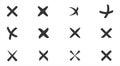 Cancel, cross, erase, delete icon set