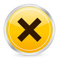 Cancel yellow circle icon Stock Photography