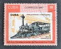 Cancelled postage stamp printed by Cuba, that shows  Old locomotive Royalty Free Stock Photo