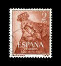 Spain on postage stamps Royalty Free Stock Photo