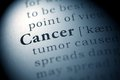 Cancer fake dictionary dictionary definition of the word Royalty Free Stock Photo