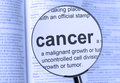 Cancer highlighted on a blue background Royalty Free Stock Image