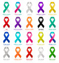 Cancer ribbons. Vector. Royalty Free Stock Photo