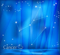 Cancer Zodiac Background Royalty Free Stock Image