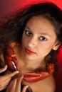 Cancer zodiac girl Royalty Free Stock Photo