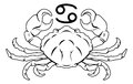 Cancer zodiac horoscope astrology sign illustration of the crab Stock Photos