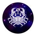 Cancer zodiac sign, horoscope symbol, vector illustration Royalty Free Stock Photo