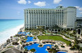 Cancun resort aerial view Royalty Free Stock Photo