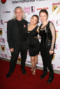 Canden Toy, Reiko Yamaguchi and Stefanie Von Guest at the Boobs and Blood International Film Festival Opening Night, New Beverly C Royalty Free Stock Photos