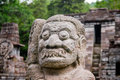 Candi sukuh or fertility temple central java indonesia statue at the tucked away high in the mountains of near the city of solo Stock Images
