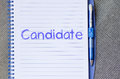 Candidate write on notebook Royalty Free Stock Photo