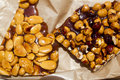 Candied almonds and hazelnuts nuts Stock Photography