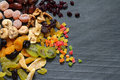 Candied dried mixed assortment of exotic fruits Royalty Free Stock Photo