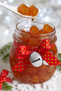 Candied orange peels confiture citrus with pinwheels Stock Image