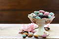 Candies almonds in sugar glaze Royalty Free Stock Photo
