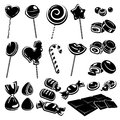 Candies and chocolate set vector illustration Royalty Free Stock Photo