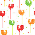 Candies cocks and confetti Royalty Free Stock Photo