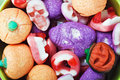 Candies for the holiday halloween fruit jelly background Royalty Free Stock Photo