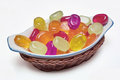 Candies multicolored hard with fruit aromas Royalty Free Stock Photo