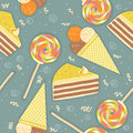 Candies seamless pattern.Vector sweets color Stock Photos