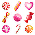 Candies set sweets and icons Royalty Free Stock Images
