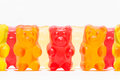 Candies shaped like a teddy bear Royalty Free Stock Photo