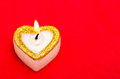 Candle as heart with free space Stock Photo
