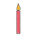 Candle birthday isolated icon