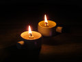 Candle candlelight on old wooden background Royalty Free Stock Photography