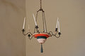 Candle chandelier at Mission La Purisima Royalty Free Stock Photo